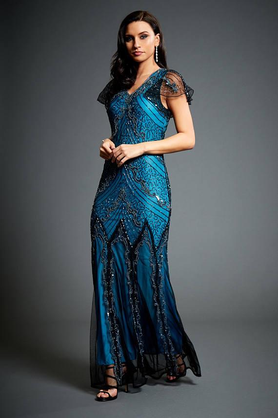 aqua evening dresses photo - 1