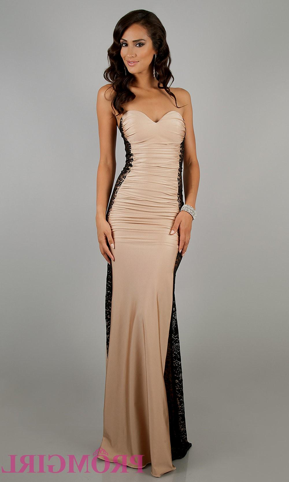 beige evening dresses photo - 1