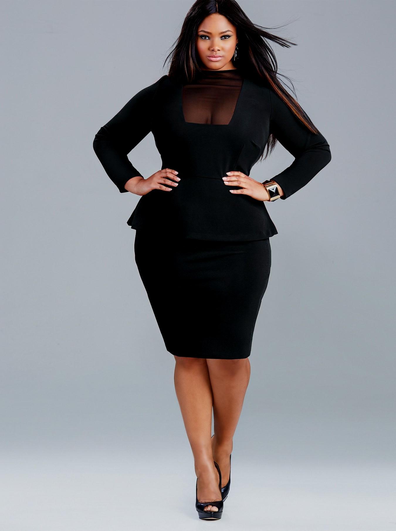 black evening dress plus size photo - 1
