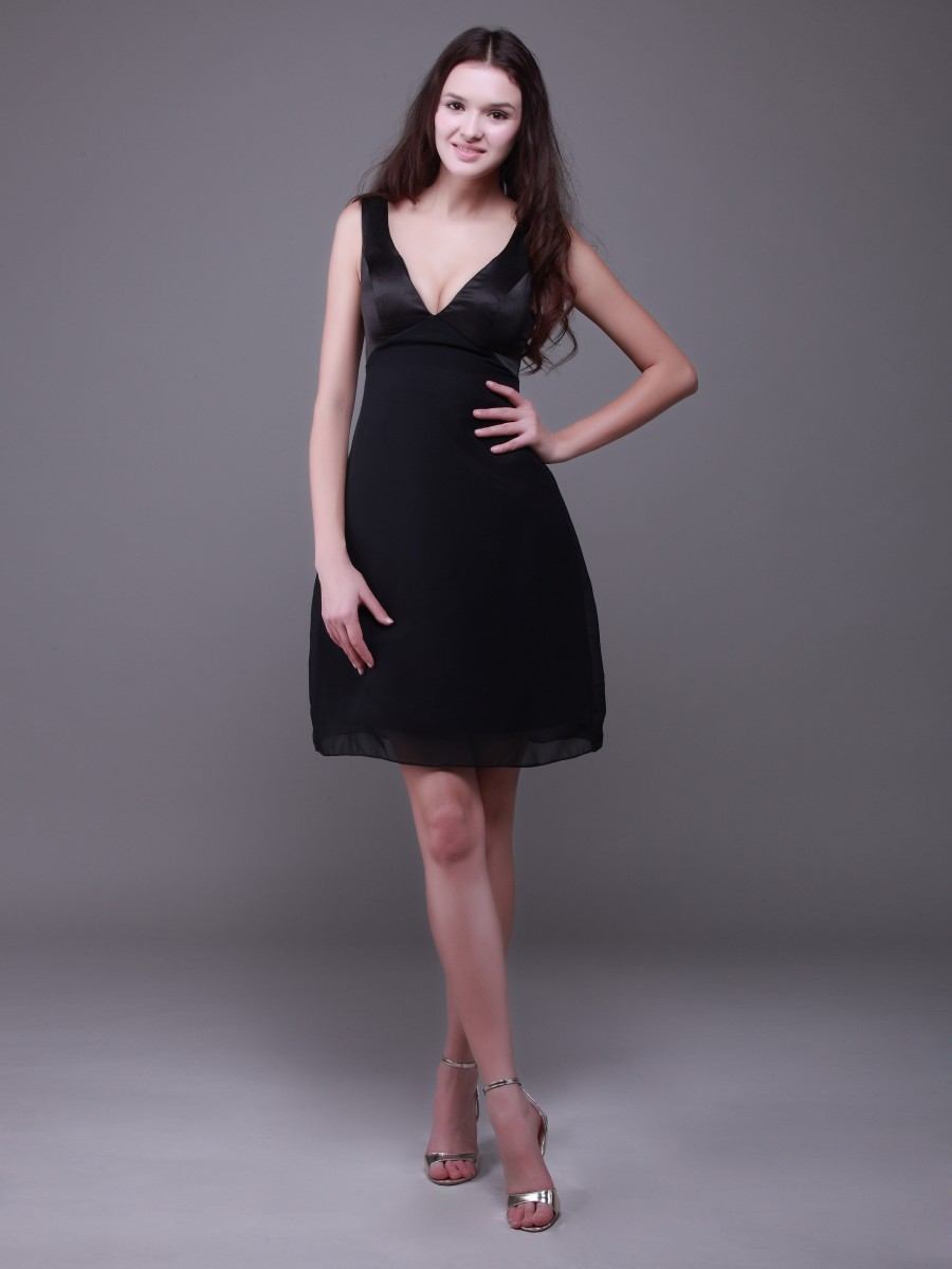 black evening dresses short photo - 1