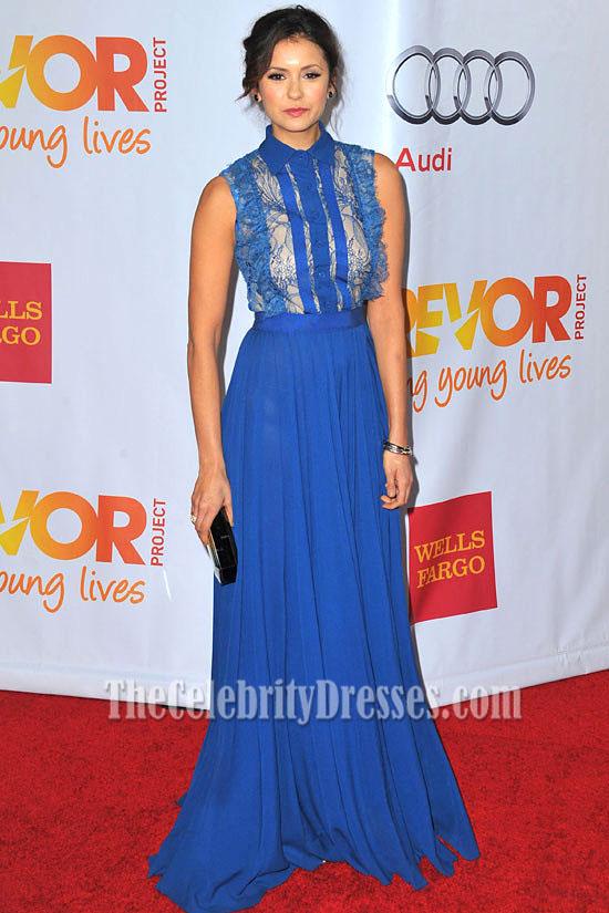 blue evening dress photo - 1
