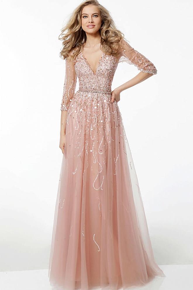 blush evening dresses photo - 1