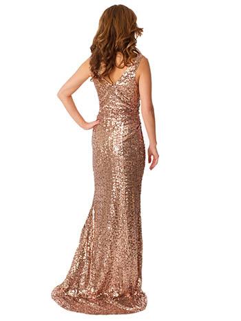 bronze evening dress photo - 1