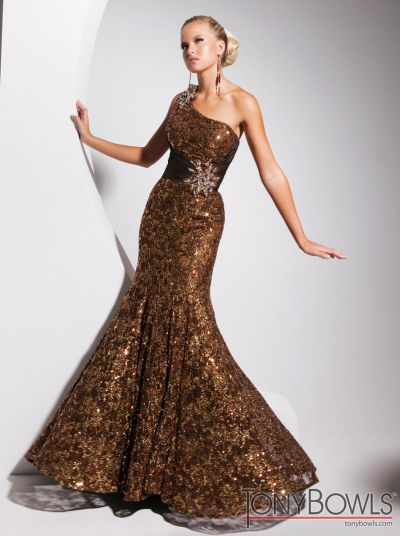 brown evening dresses photo - 1