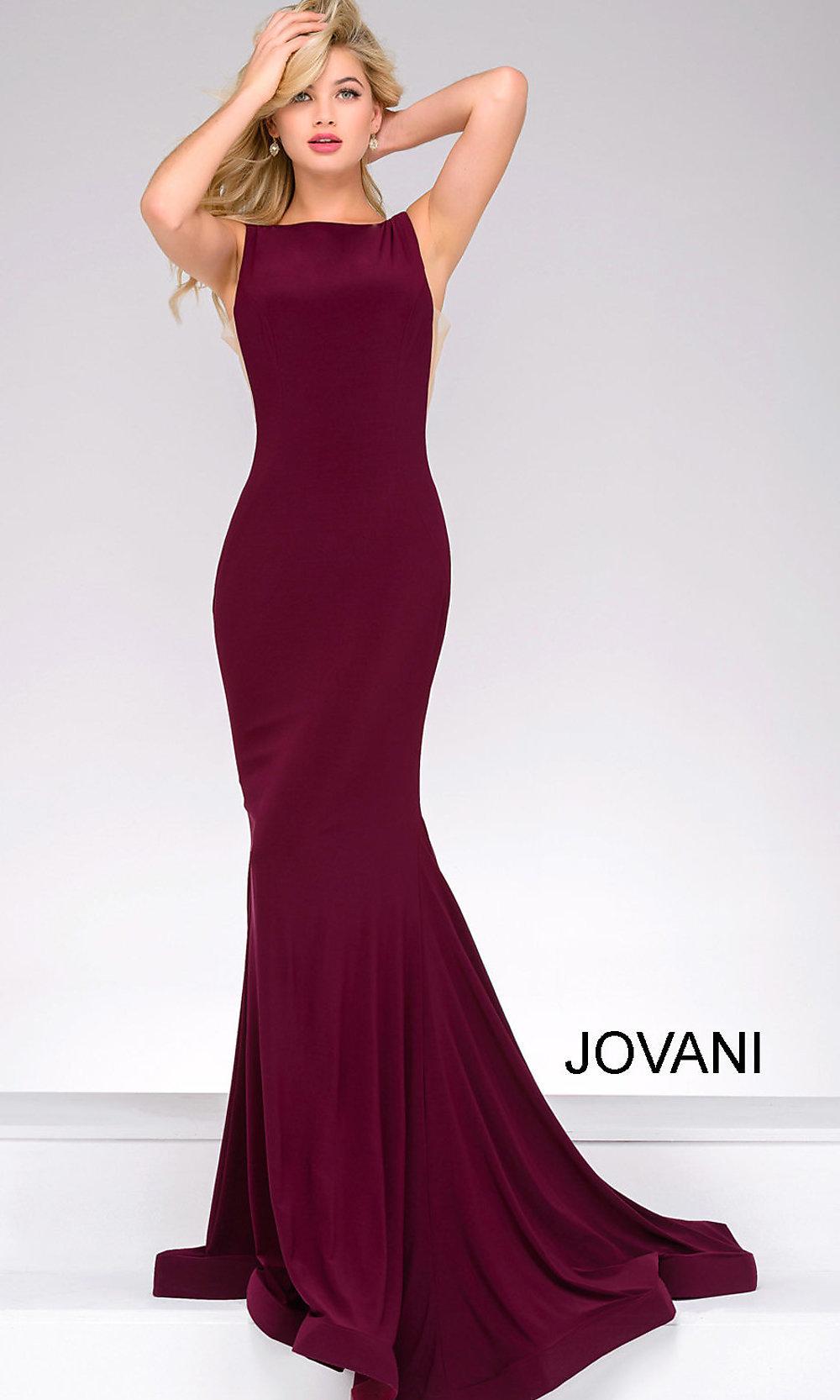 burgundy plus size evening dress photo - 1