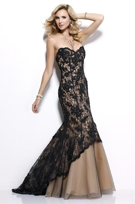 cheap black evening dresses long photo - 1