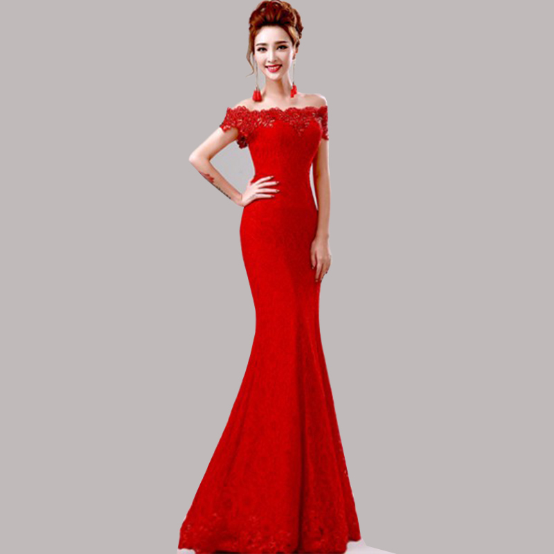 cheap red evening dresses photo - 1