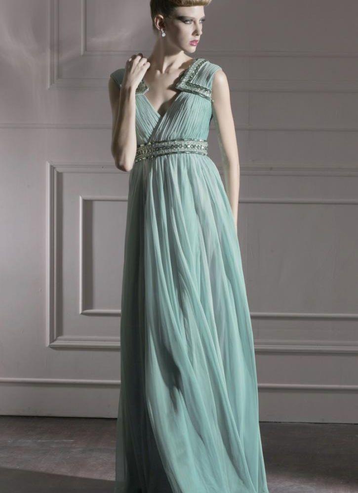 chiffon evening dress photo - 1