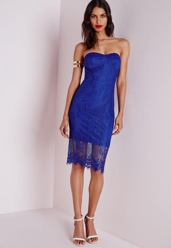 cobalt blue evening dress photo - 1
