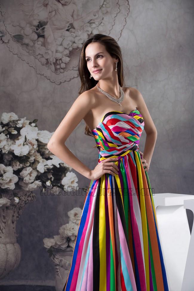 color block evening dress photo - 1