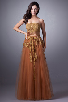 copper evening dress photo - 1