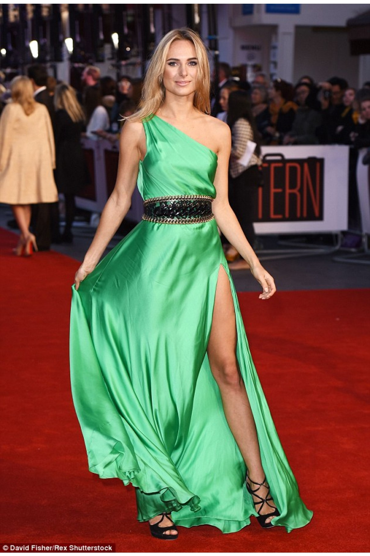 dark green evening dress photo - 1