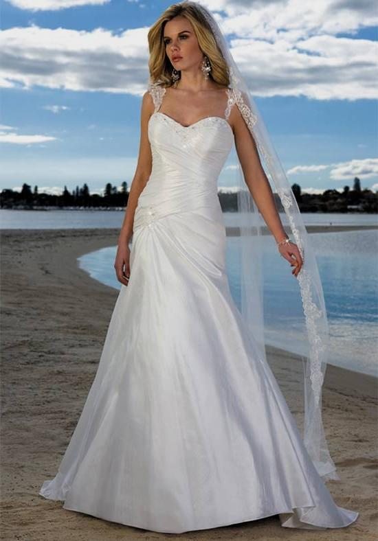 elegant beach wedding dresses photo - 1