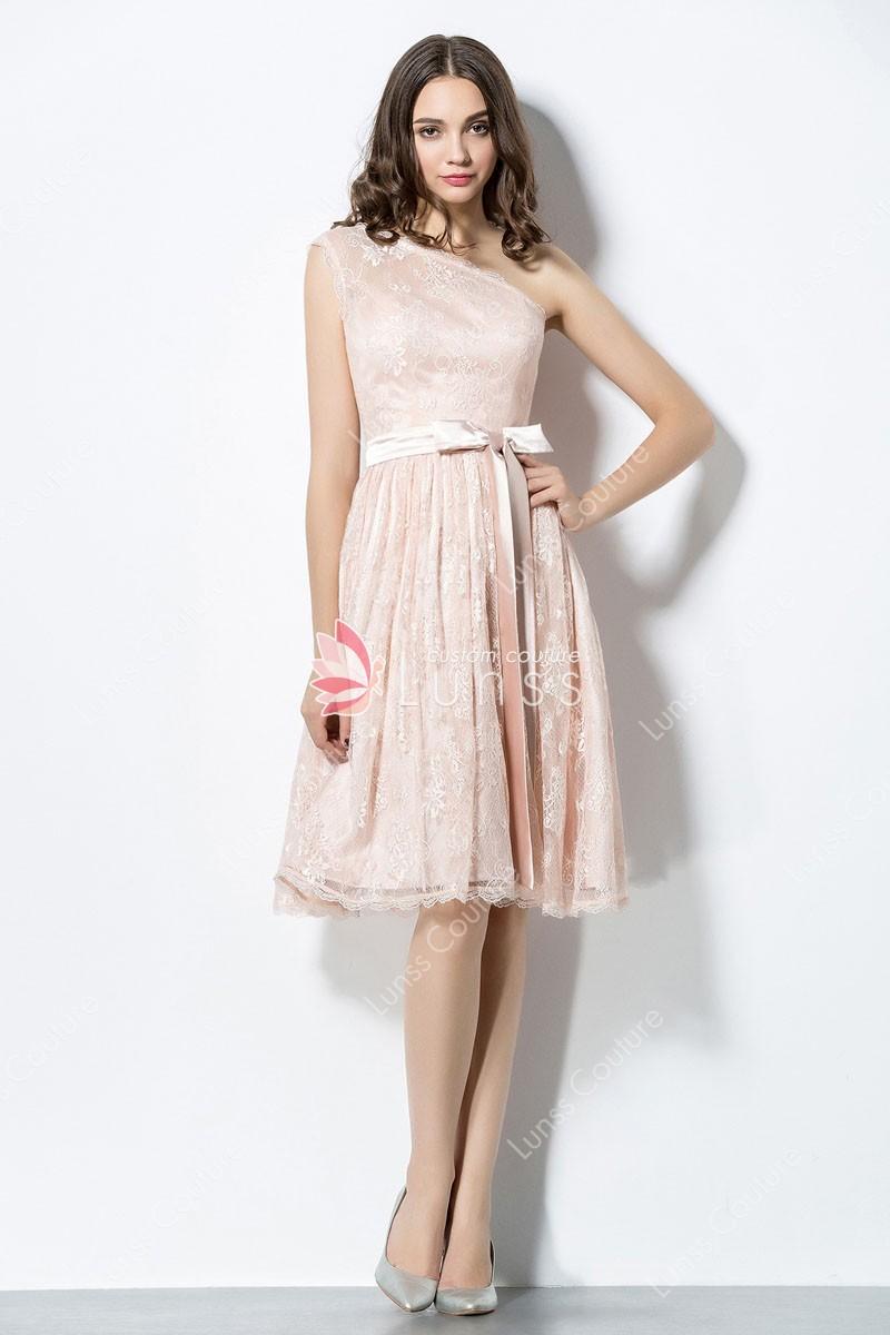 elegant blush dresses photo - 1