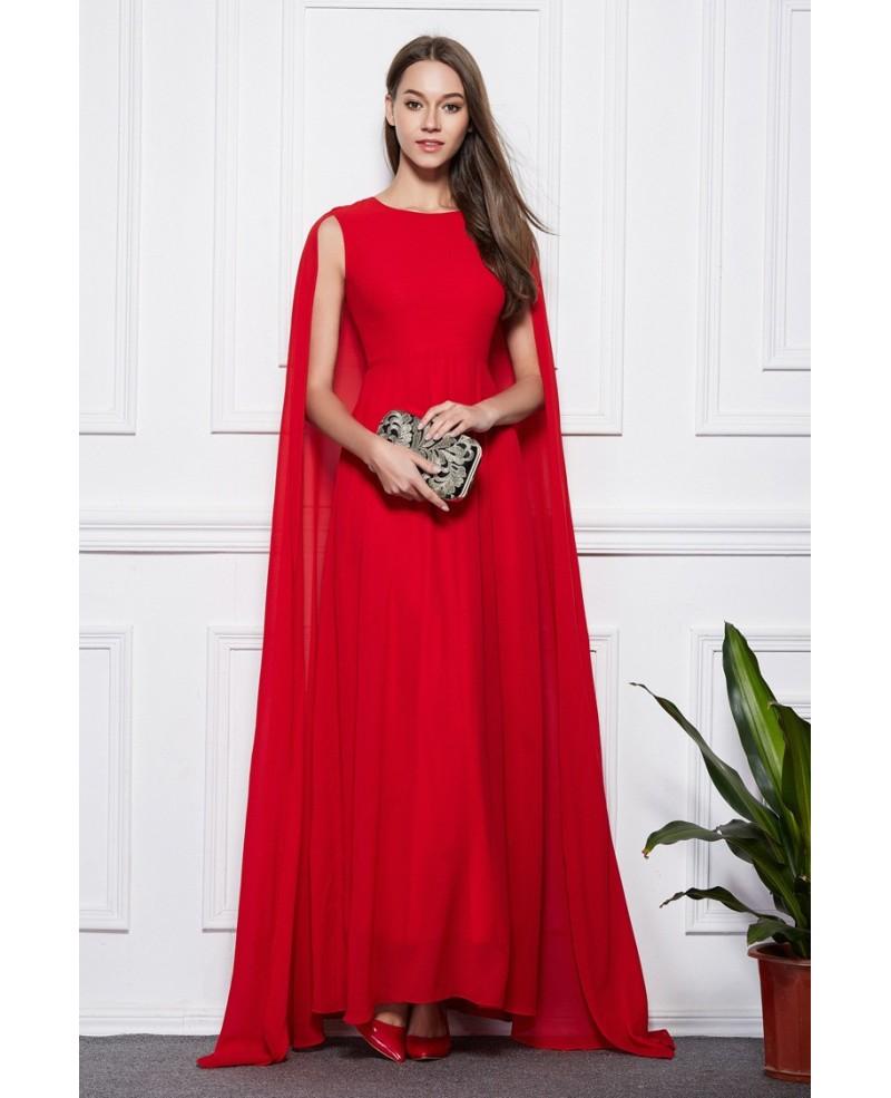 elegant cape dresses photo - 1