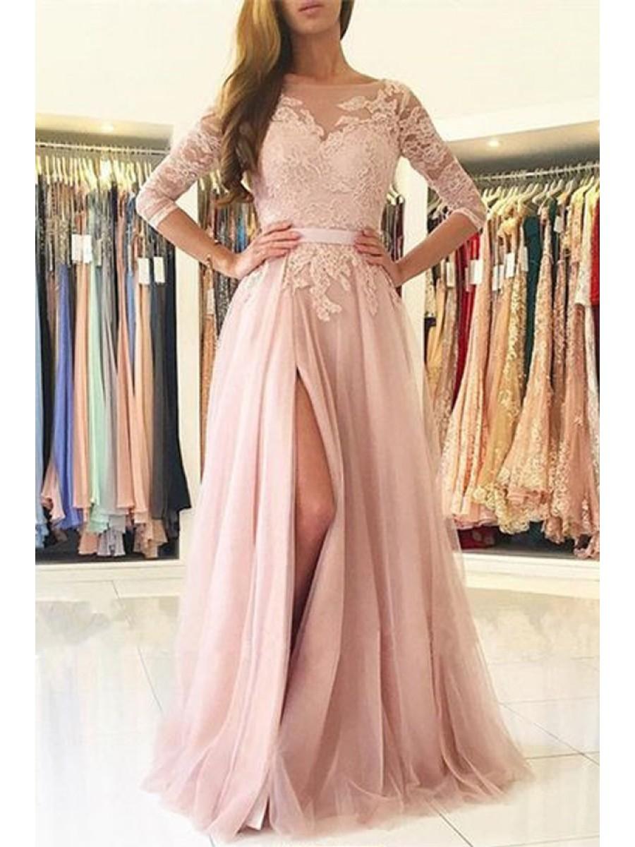 elegant lace long dresses photo - 1