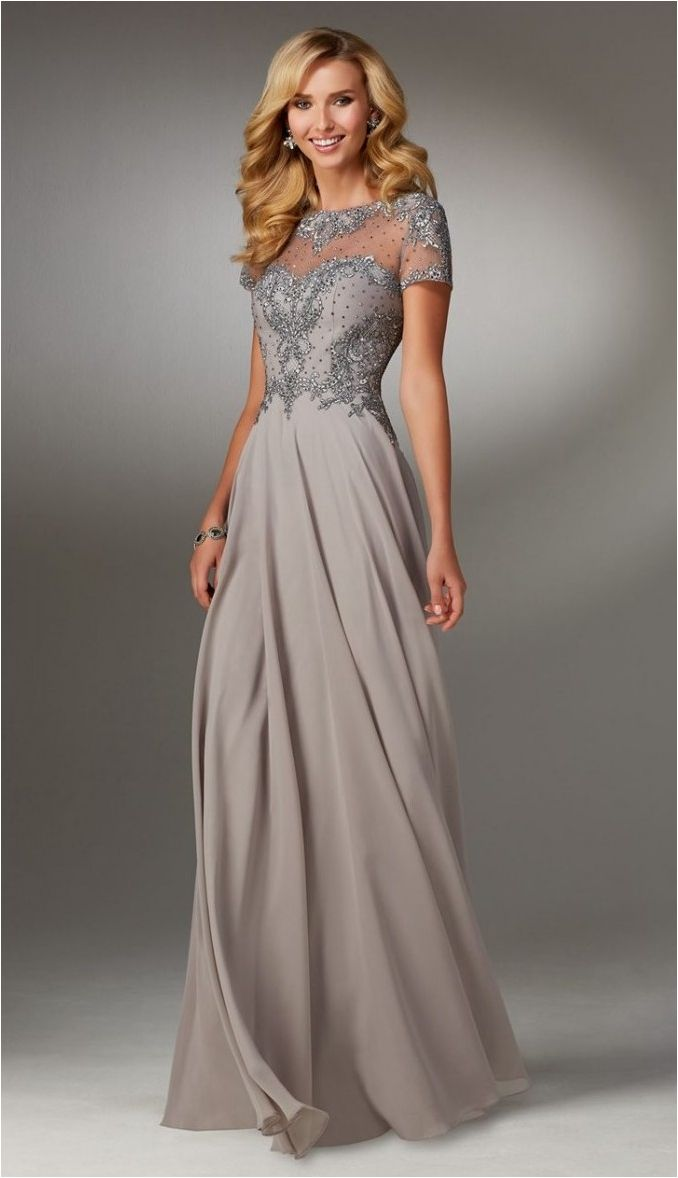 elegant mother of the bride dresses photo - 1
