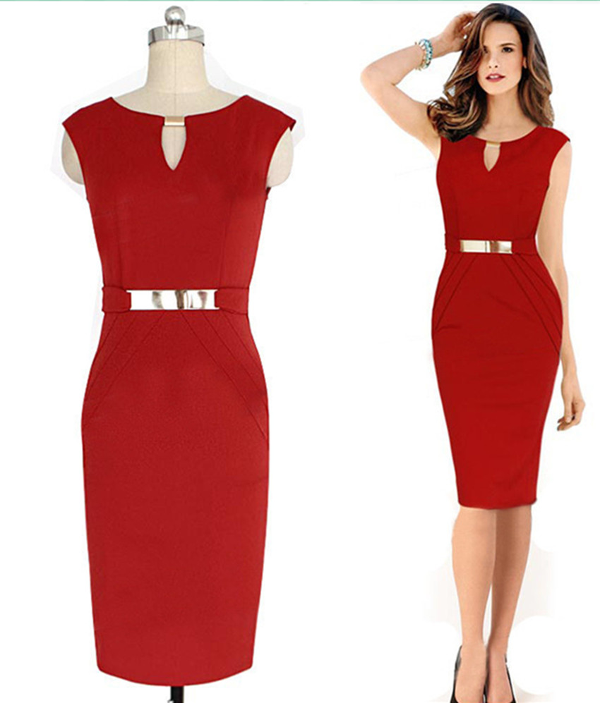 elegant pencil dresses photo - 1