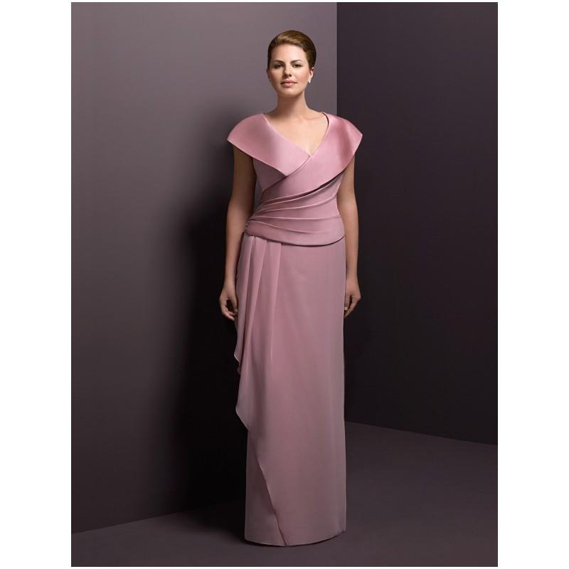elegant plus size mother of the bride dresses photo - 1