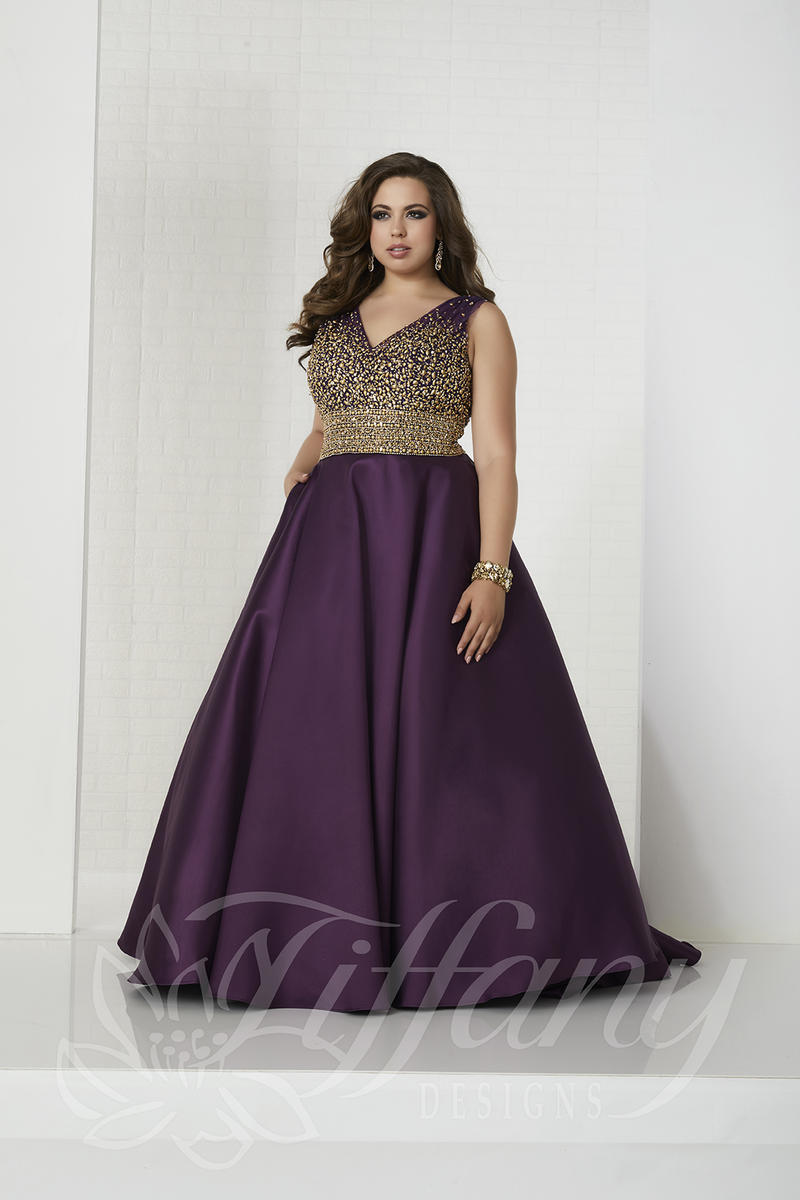elegant plus size prom dresses photo - 1