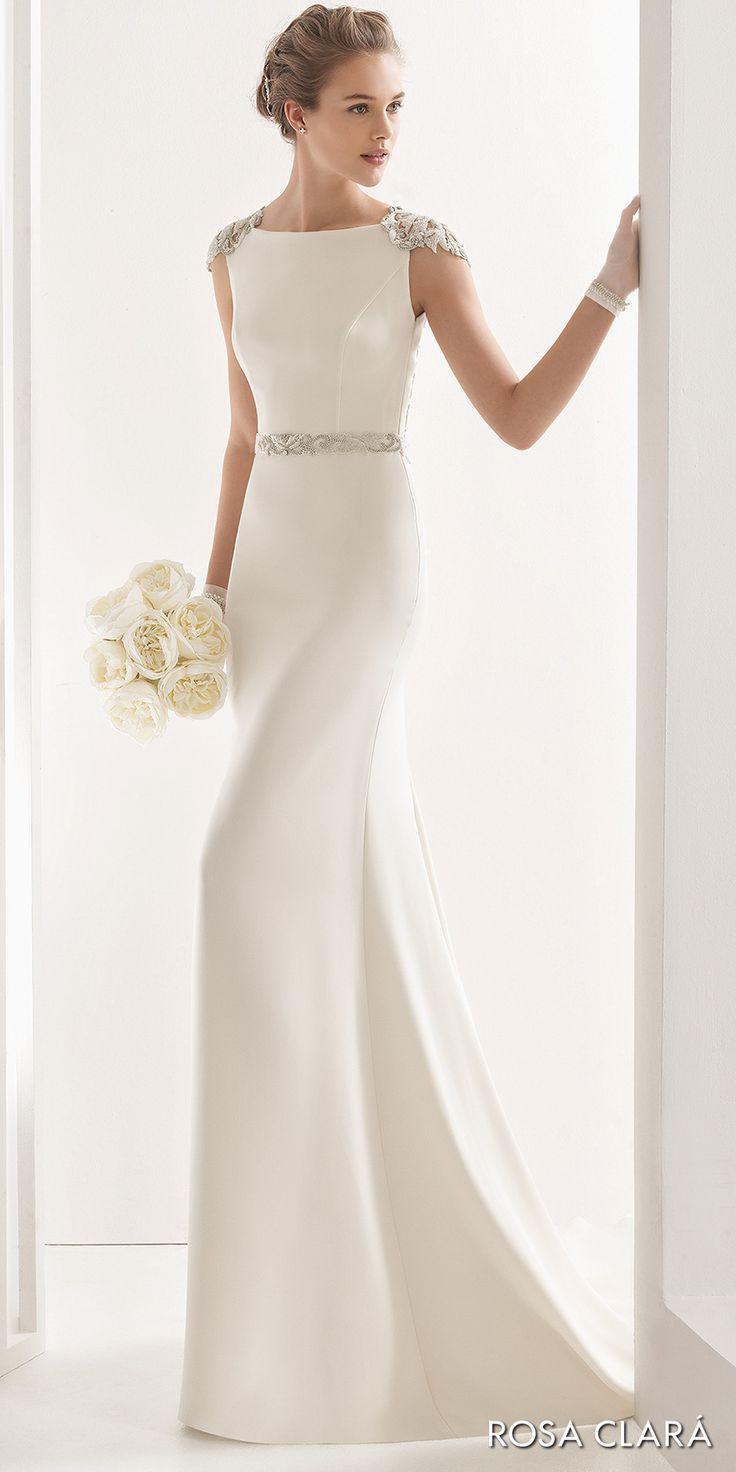 elegant sheath wedding dresses photo - 1