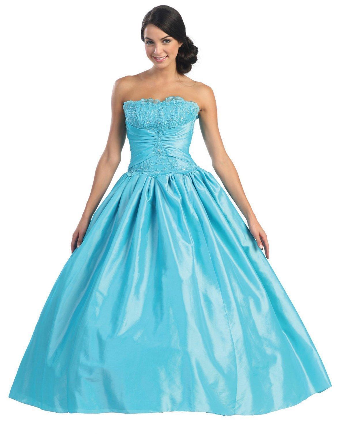 elegant turquoise dresses photo - 1