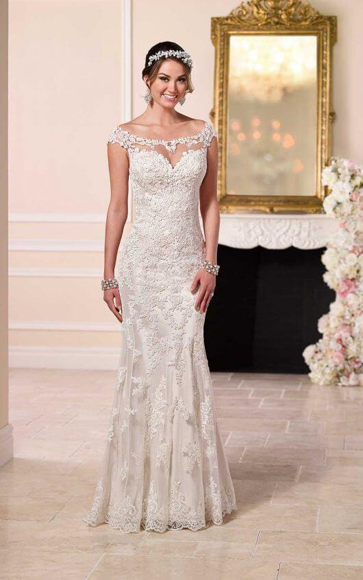 elegant white wedding dresses photo - 1