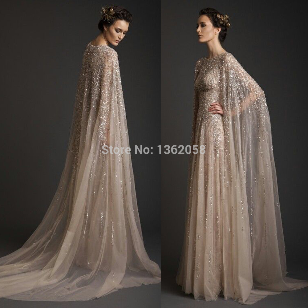 evening dresses with capes photo - 1