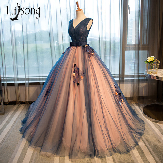 floor length evening dresses photo - 1