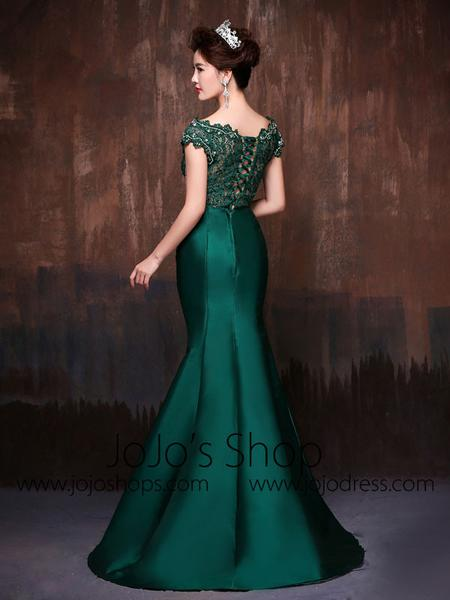 forest green evening dresses photo - 1