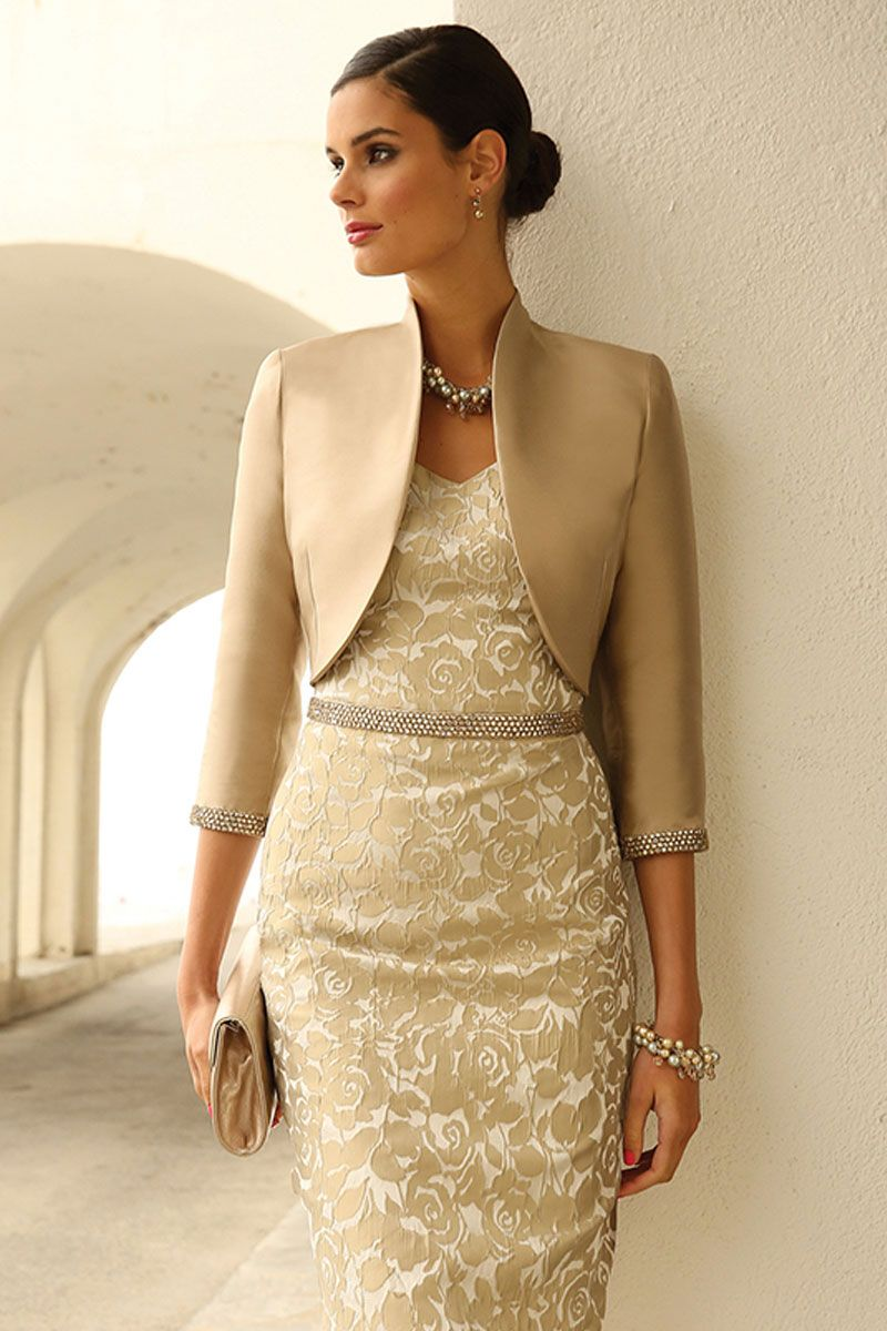 gold bolero jackets for evening dresses photo - 1
