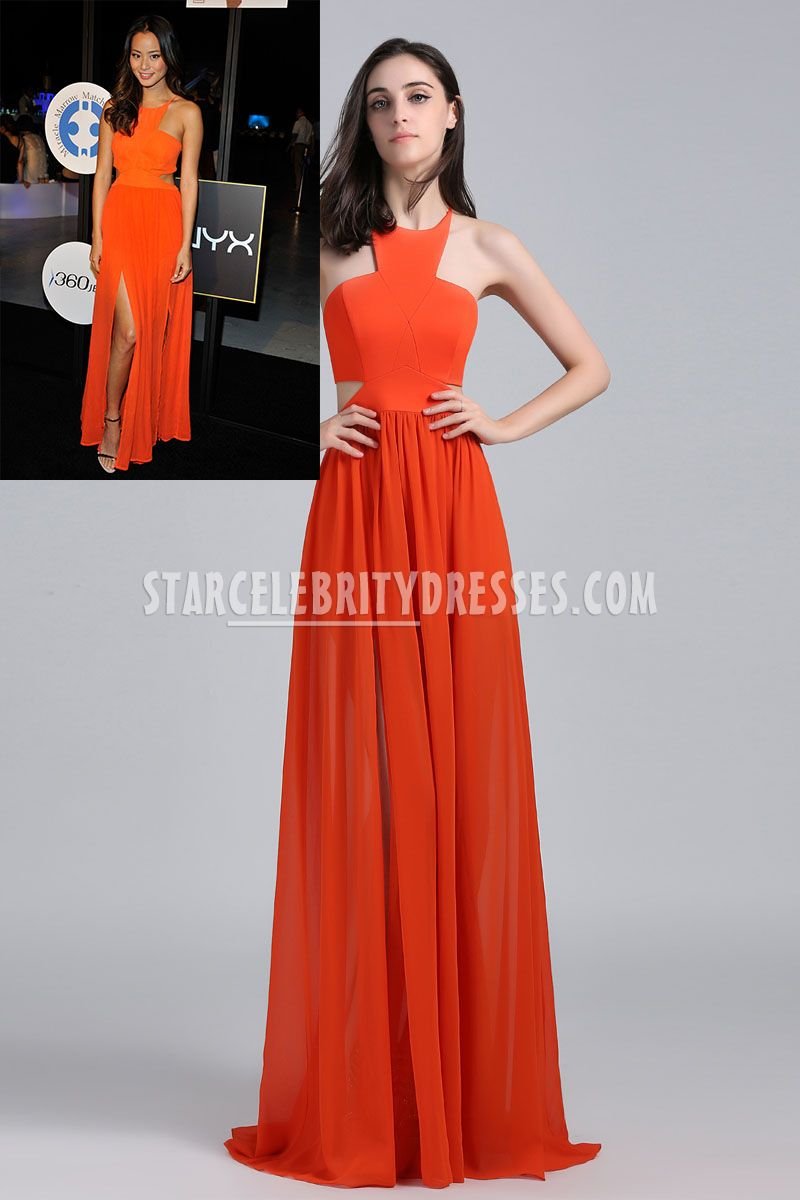 halter neck evening dress photo - 1