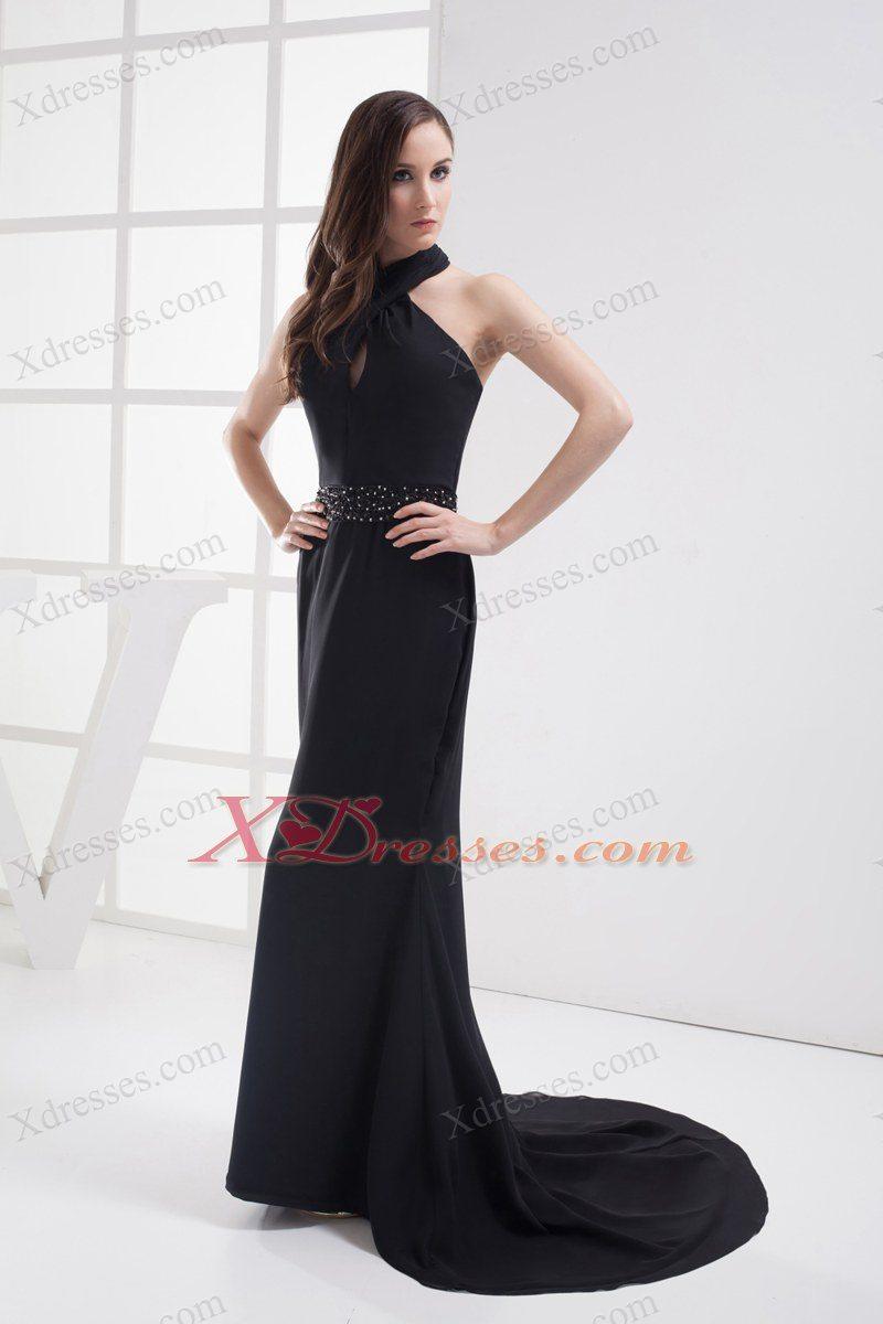 halter top evening dress photo - 1