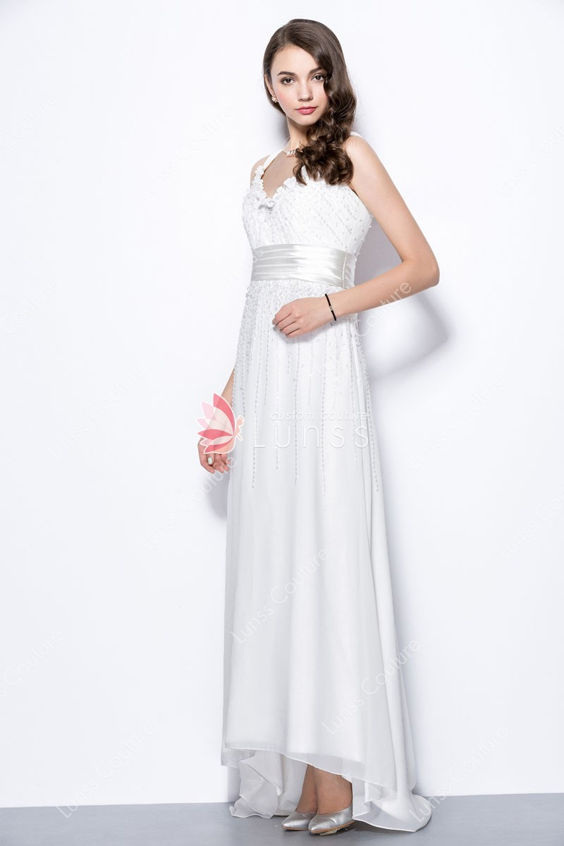 hi low evening dress photo - 1