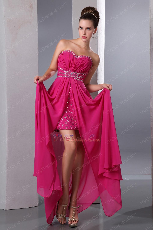 hot pink evening dress photo - 1