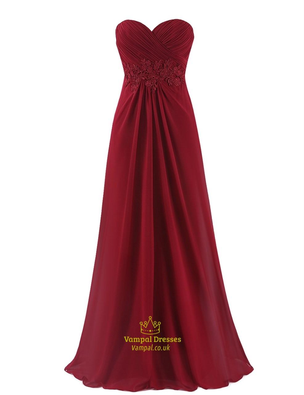 long burgundy evening dress photo - 1
