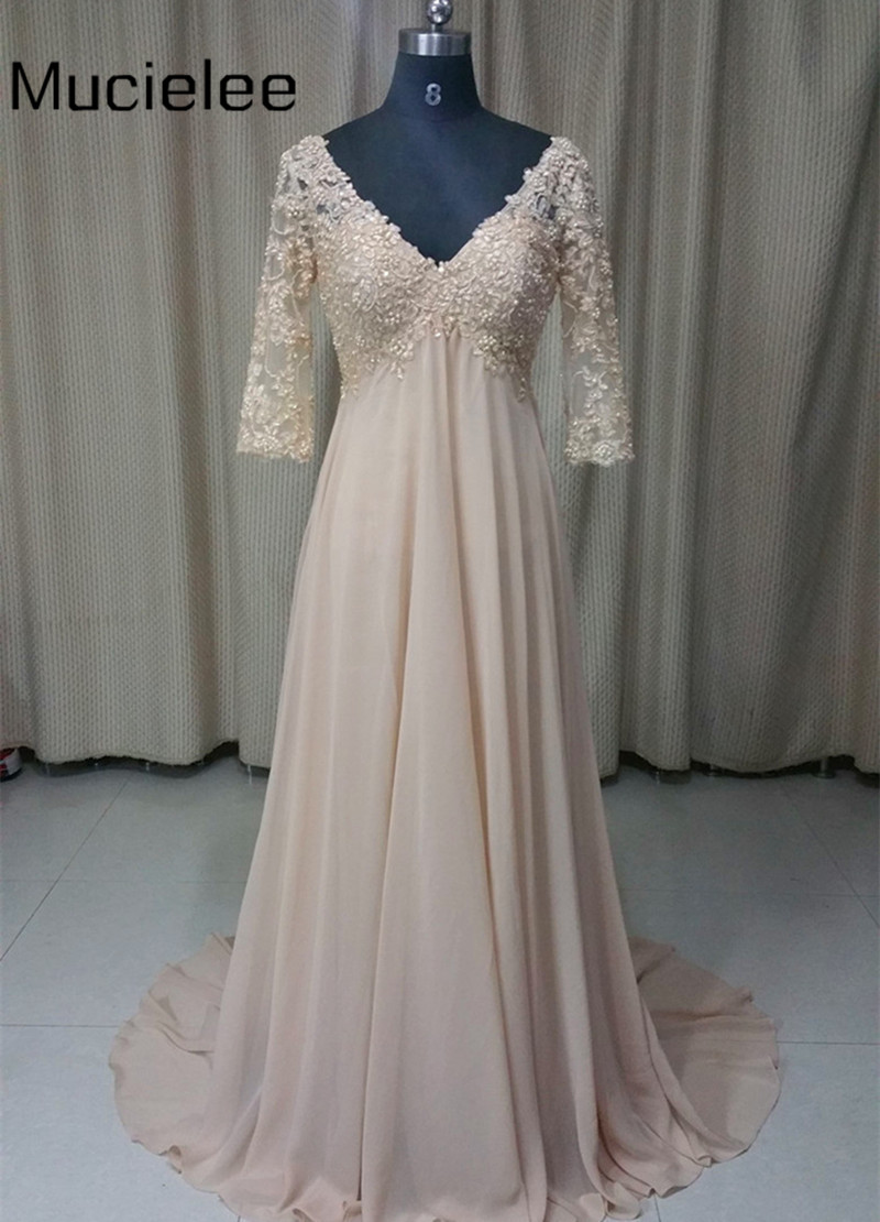 long chiffon evening dress photo - 1