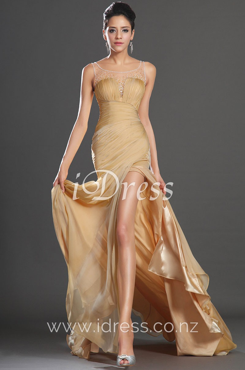 long gold evening dresses photo - 1