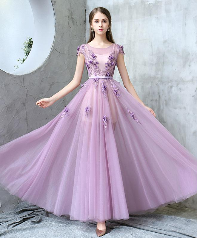 long purple evening dress photo - 1
