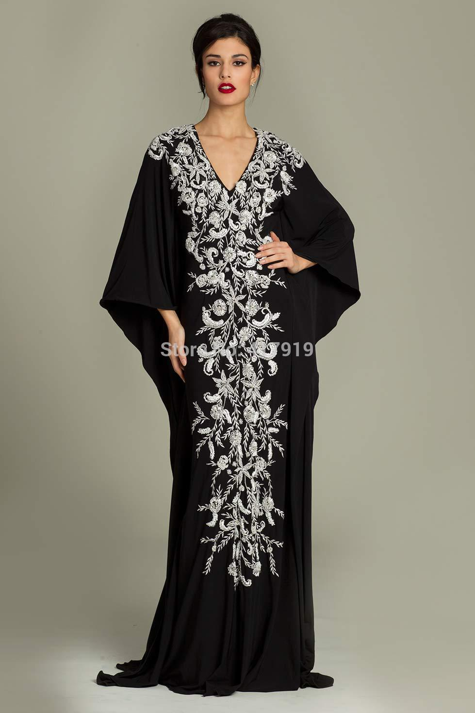 long sleeve evening dress plus size photo - 1