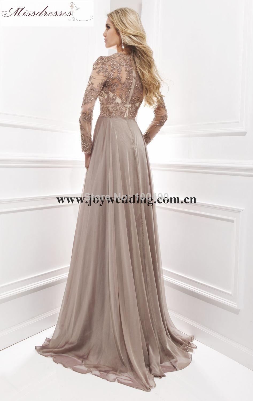 long sleeve evening maxi dress photo - 1