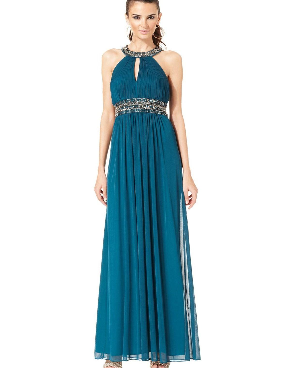 macys evening dresses with sleeves photo - 1
