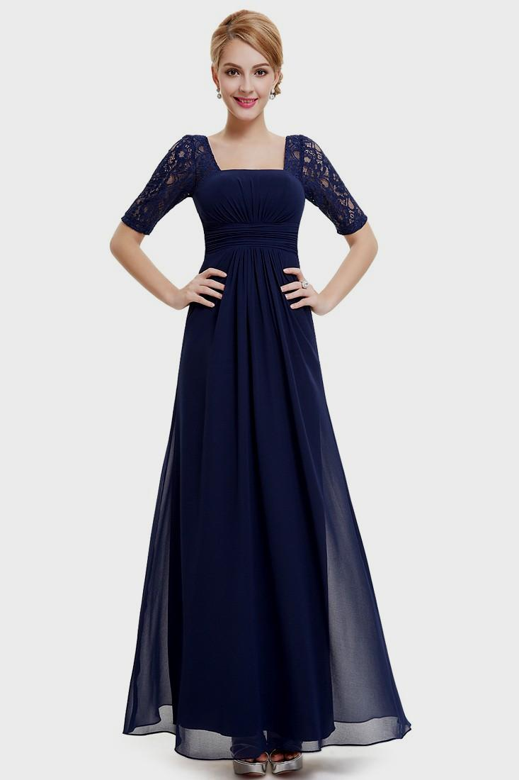 maxi evening dresses with sleeves photo - 1