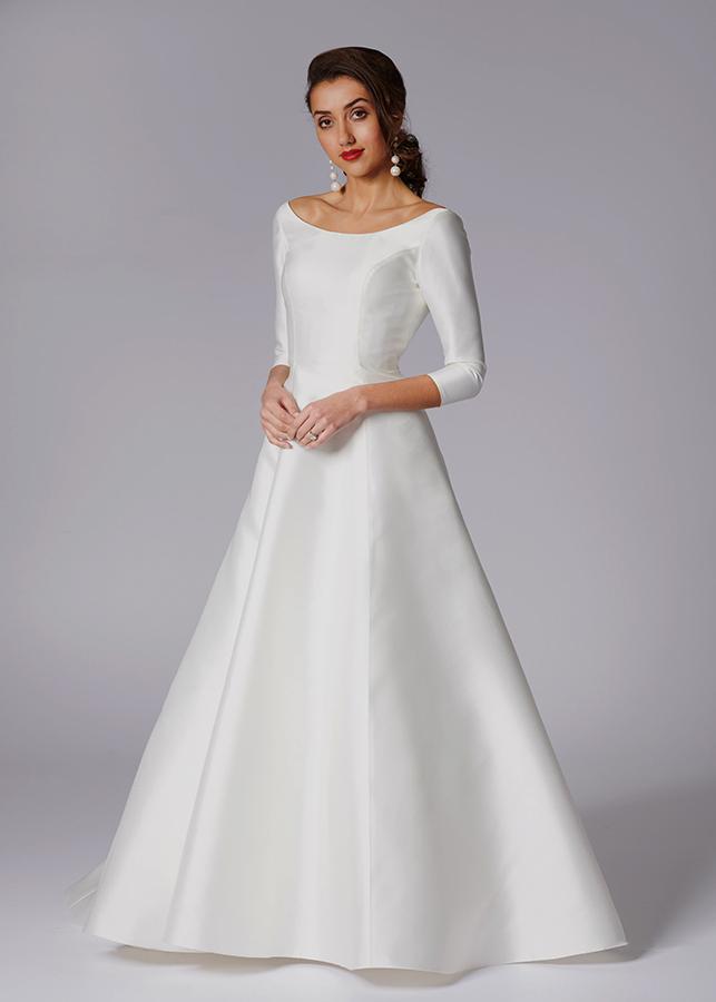 modest elegant wedding dresses photo - 1