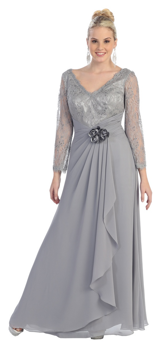 mother of the groom evening dresses photo - 1