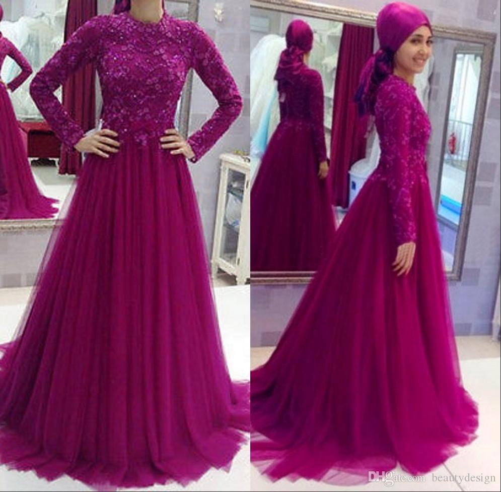 muslim evening dresses with sleeves photo - 1