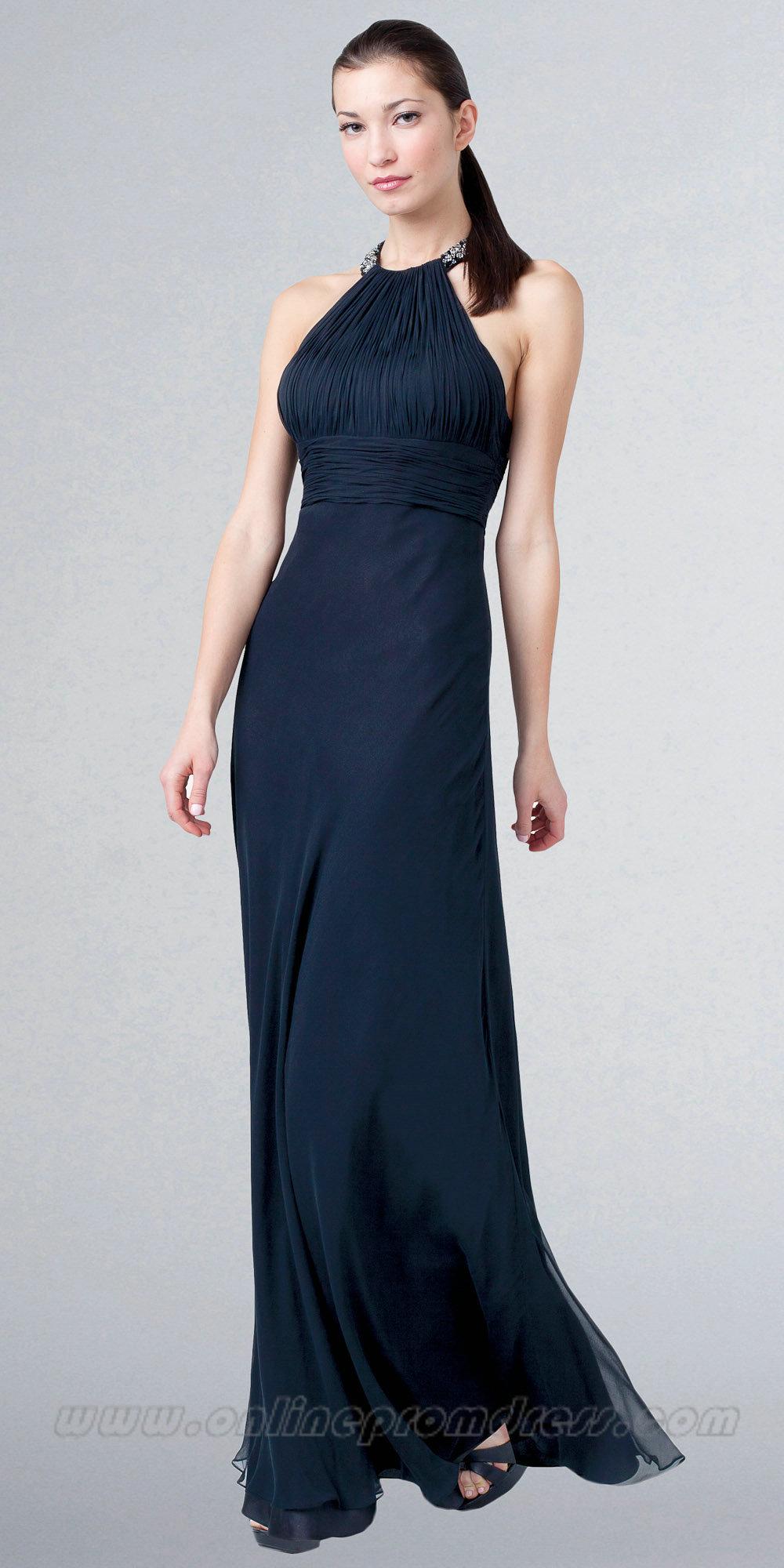 navy blue evening dresses photo - 1