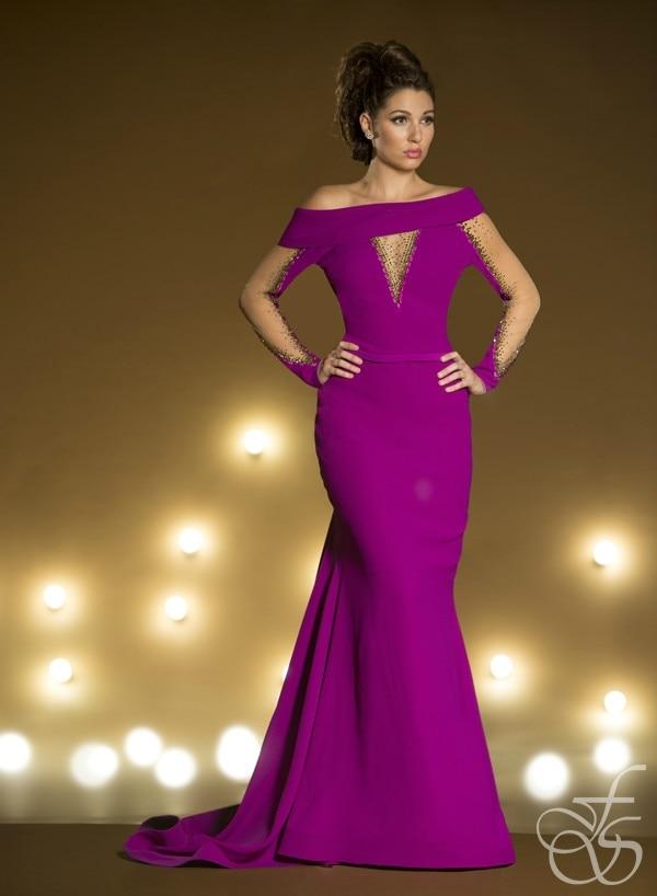 off shoulder evening dresses photo - 1