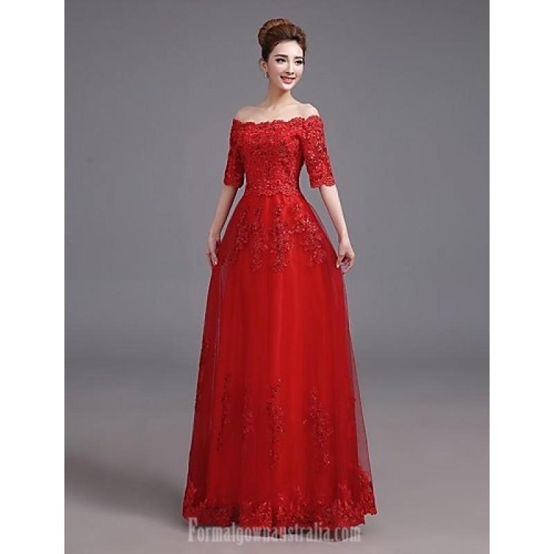 off the shoulder plus size evening dresses photo - 1