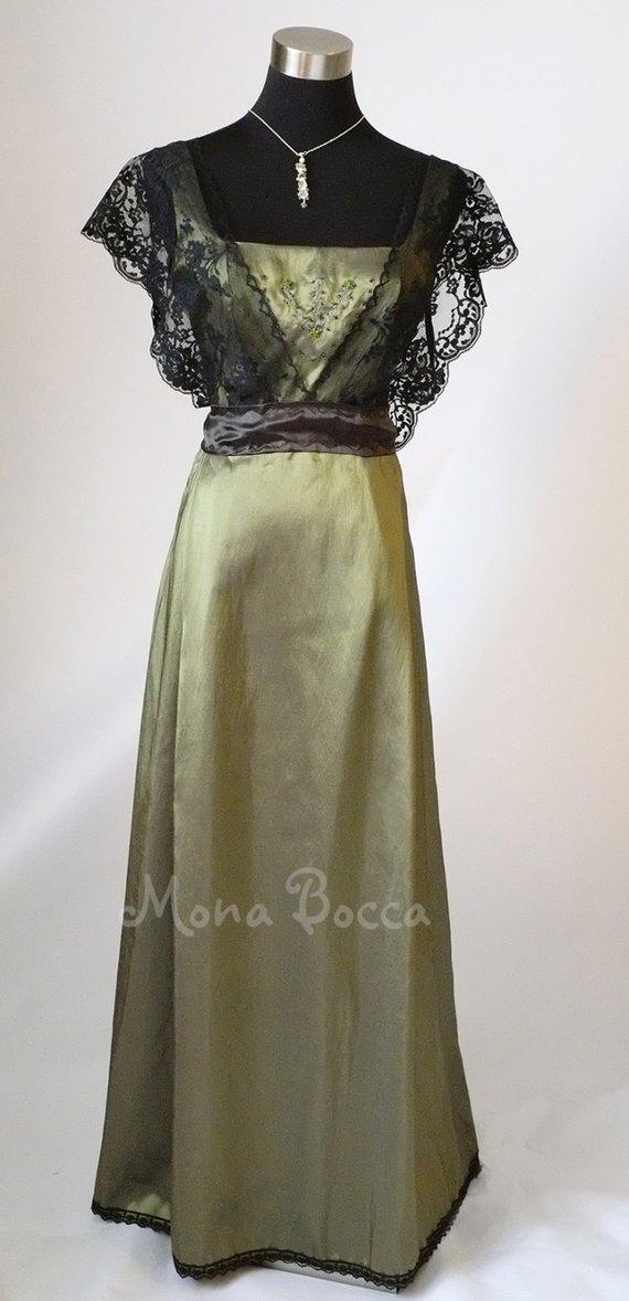olive green evening dresses photo - 1